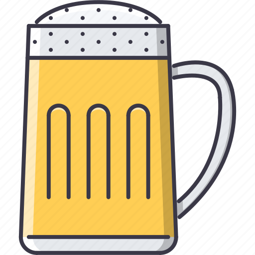 alcohol, bar, beer, club, cup, foam, party icon