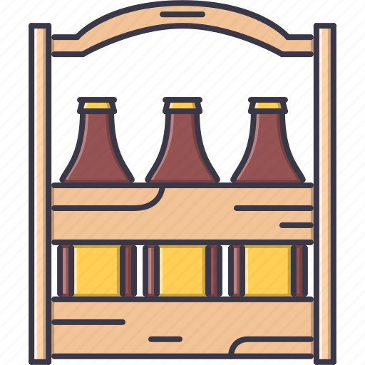 alcohol, bar, beer, bottle, case, club, party icon