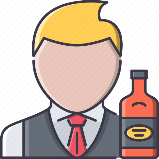 alcohol, bar, bartender, bottle, club, party icon