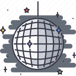 ball, bar, club, disco, party, shine icon