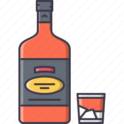 alcohol, bar, club, glass, party, whiskey icon