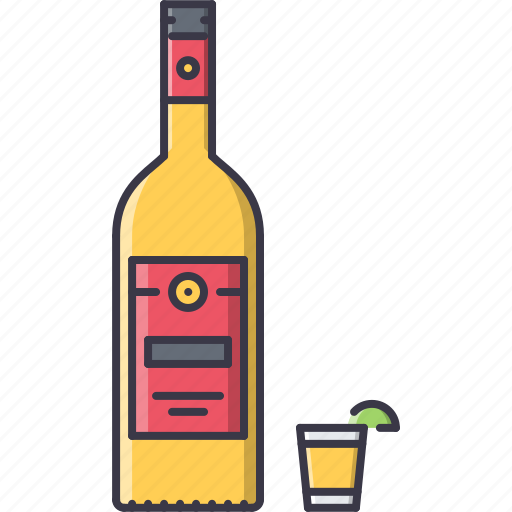 alcohol, bar, club, glass, lime, party, tequila icon