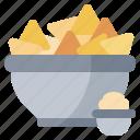 fast, food, junk, nachos, restaurant, snack icon