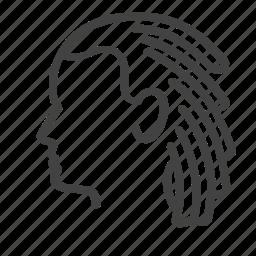 barber, dreadlocks, hair, man, service icon