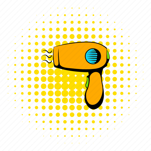 blow, blower, comics, dryer, electric, hair, hairdryer icon