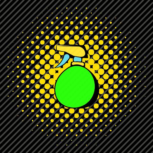 bottle, care, comics, liquid, plastic, spray, sprayer icon