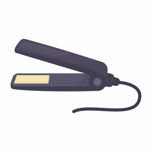 curling, equipment, hairdresser, iron, tool icon