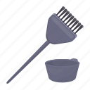 brush, hairdresser, paint, painting, tool icon