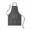 accessories, apron, clothes, hairdresser, man, pocket, uniform icon