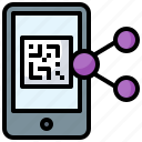 barcode, iphone, phone, qr code, smartphone, technology, touch