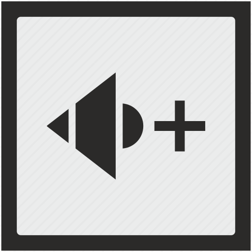 add, function, level, music, mute, sound, square icon