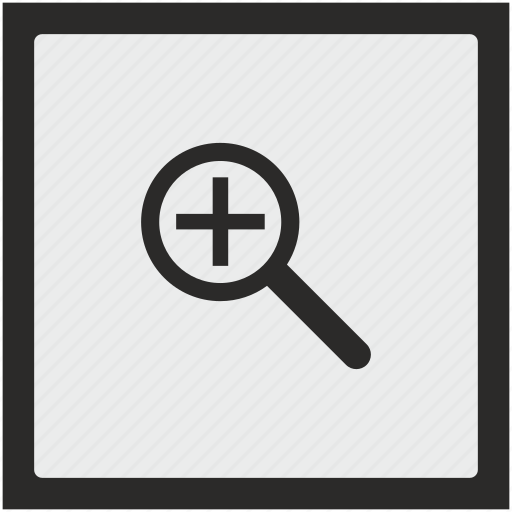 add, function, lopp, magnifier, scale, square icon