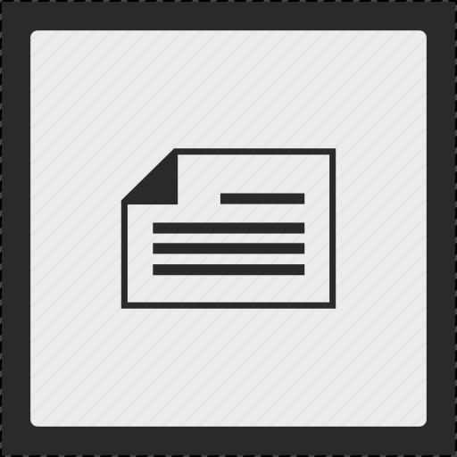 album, doc, document, function, page, square icon