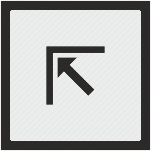arrow, corner, function, left, square, top icon