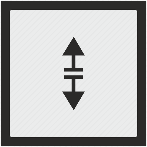 arrow, border, function, separate, square, vertical icon