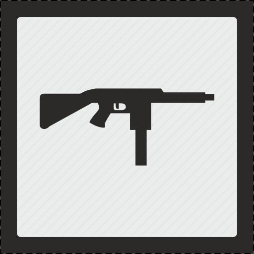 automatic, function, gun, mashine, square, weapon icon