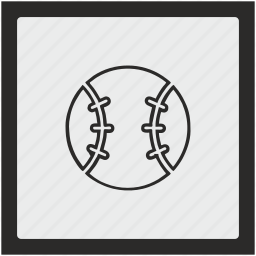 ball, baseball, function, game, sport, square icon