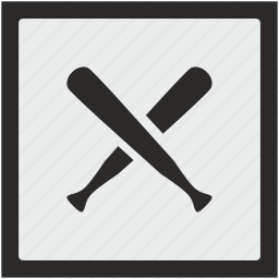 baseball, function, game, sport, square icon