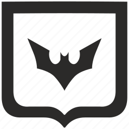 bat, batman, comics, fly, shield icon