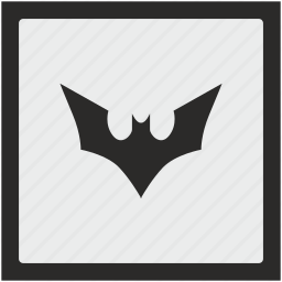 bat, batman, comics, fly, function, square icon