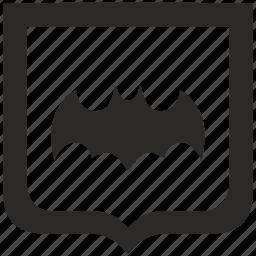 bat, batman, comics, hero, shield, sign icon