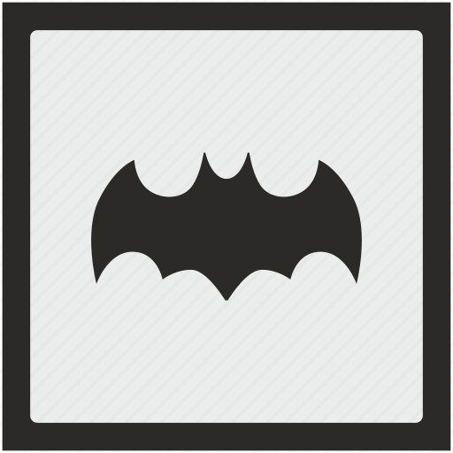 bat, batman, comics, function, hero, sign, square icon