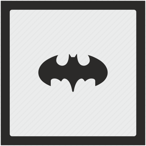 bat, batman, function, hero, square icon
