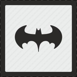 bat, batman, function, legend, square icon