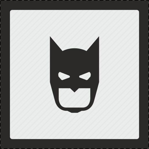 bat, batman, face, function, mask, square icon
