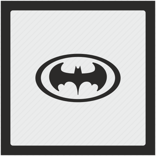 bat, batman, function, hero, oval, square icon