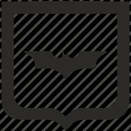 bat, batman, comics, shield icon