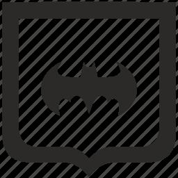 bat, batman, shield icon