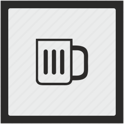 beer, cup, drink, function, square icon