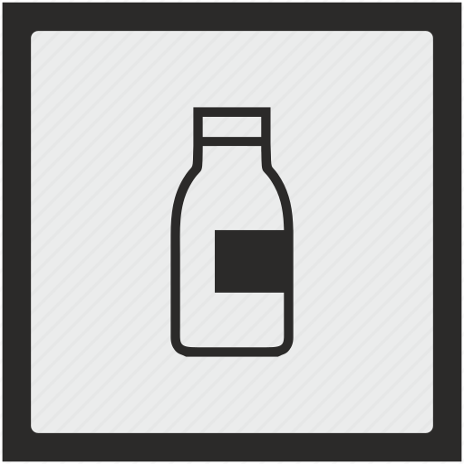 bottle, drink, function, milk, square icon