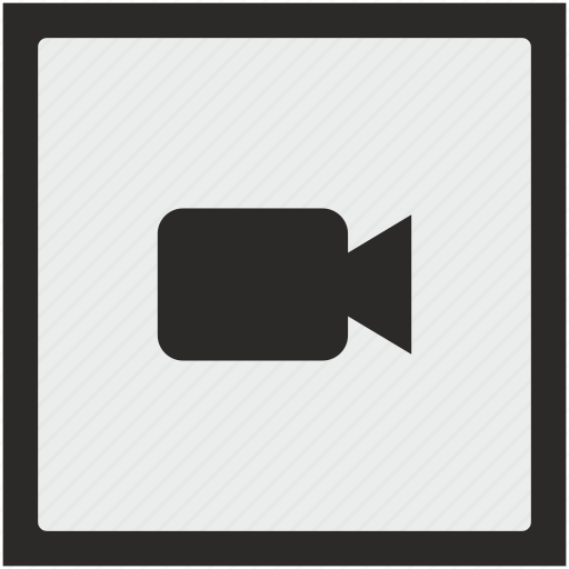 cam, camera, function, square, video icon