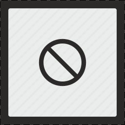 ban, cancel, cursor, function, square, stop icon