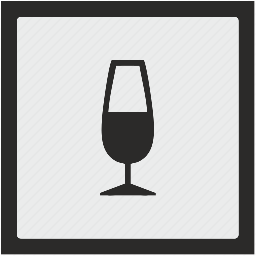alcohol, champagne, drink, function, square icon
