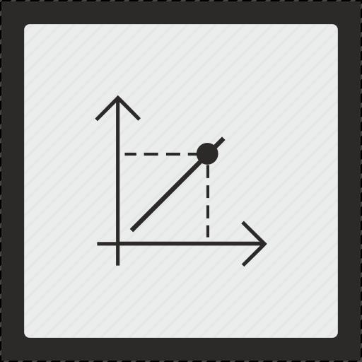 chart, economics, function, math, square icon