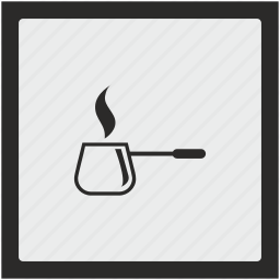 coffee, dishes, function, hot, kitchen, square icon