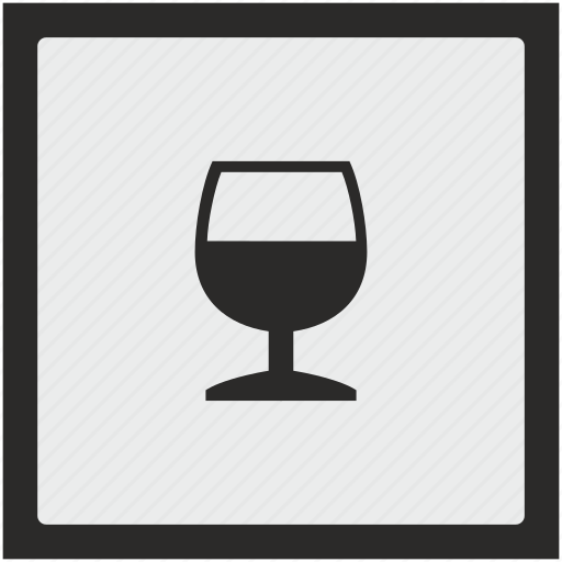alcohol, bocal, cognat, drink, function, square icon