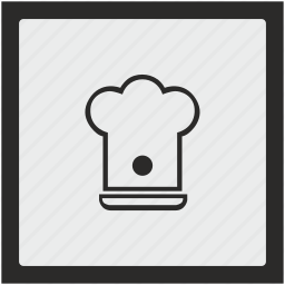 cook, function, hat, kitchen, square icon