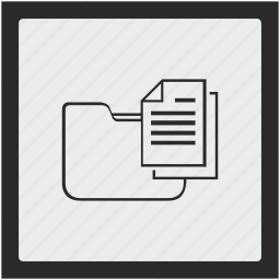 copy, document, folder, function, square icon