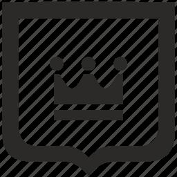 crown, king, royal, shield icon