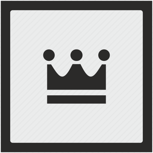 crown, function, king, royal, square icon