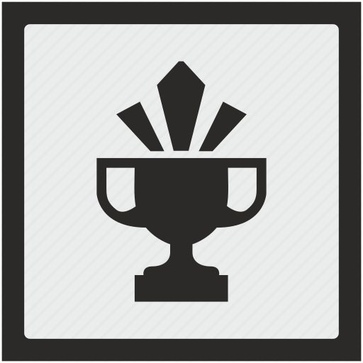 champion, cup, function, shine, square, winner icon