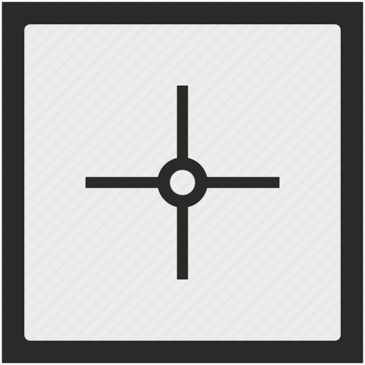 aim, cursor, function, pointer, square, target icon
