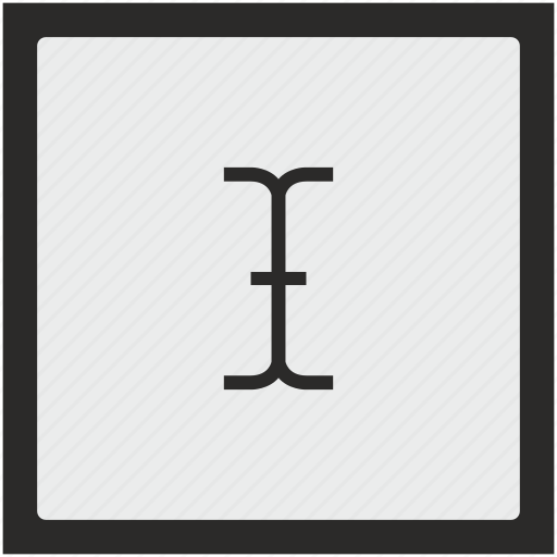 cursor, edit, function, space, square, text icon