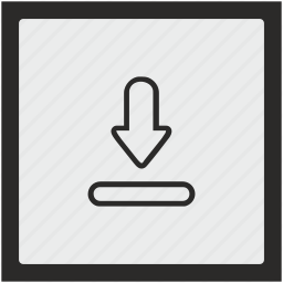 download, file, function, square, transfer icon