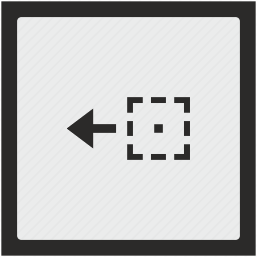 area, drag, drop, function, object, side, square icon