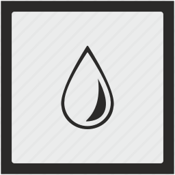 drop, function, ink, oil, square, water icon
